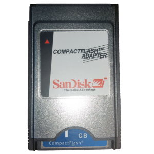 SANDISK 1 GB PCMCI COMPACT FLASH KART VE ADAPTORU