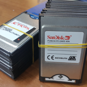SANDISK 1 GB PCMCI COMPACT FLASH KART VE ADAPTORU 4