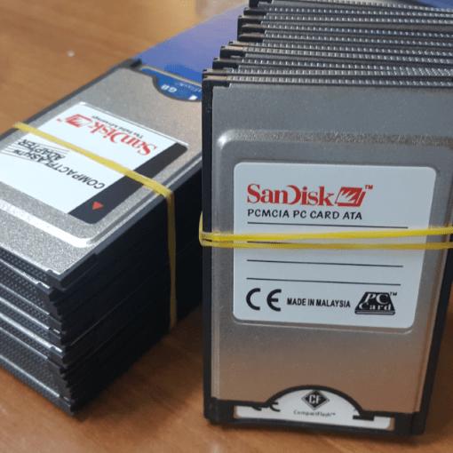 SANDISK 1 GB PCMCI COMPACT FLASH KART VE ADAPTORU 4