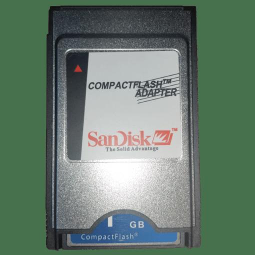 SANDISK 1 GB PCMCI COMPACT FLASH KART VE ADAPTORU