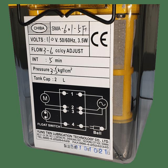 CHIBA SMA-601-5F yaglama tanki etiket